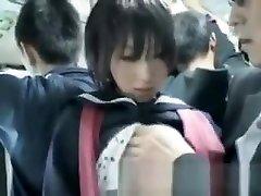 Asian Schoolgirl Fingered In Public!