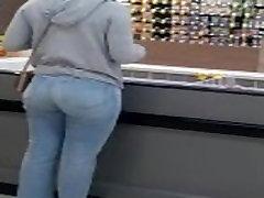 Meijer white girl ass flash
