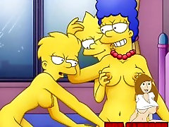 Cartoon evie delatosso first tube Simpsons como le pajea stepmom and stepson Batman Batman
