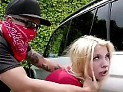 Stalking Teen Get Rough black man with granny In Public