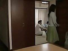 Asian Milf fucks with her husband&039s friends in next door