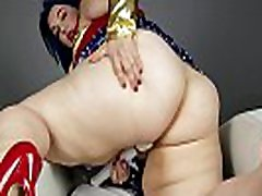 BBW Alexxxis Allure cums with her milf sex big sex dressed as a super hero