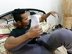 Asian Twink Foot Fetish Stroke Off