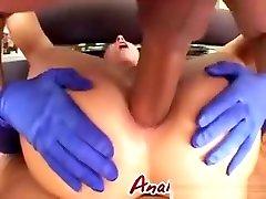 Double Penetration Blowjob Brunette Slut Threesome