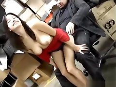Big Tit sex with largest penis Cutie Fucked In The Back Room At Work