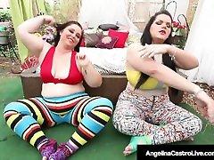 Thick Cuban Angelina Castro Pumps Plump xxxcom sexy video With 2 BBWs!