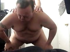 Daddy fucked by young slim boy