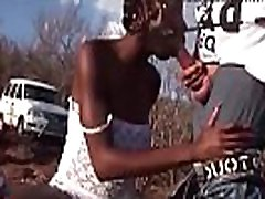 Extreme african outdoor bang orgy