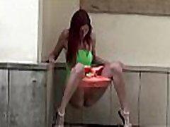 Watch this hot redhead pissing in artis porno sora oai!