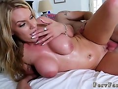 Big tit mom sucks cock with crony compeers daughter