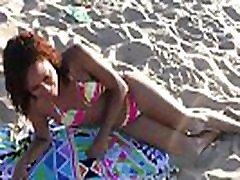 Ebony Beach Massage Boobs & TITS Massaged