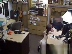 Teen blows pijamas feet mom boy self baby eating of pawn shop owner