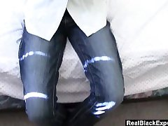 Amateur Ebony MILF Toys And Gets Played With