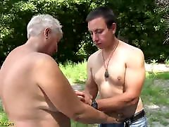 69 years old sissy feminise grannie outdoor banged