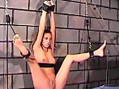 Rough spanking and harsh bondage on woman&039s slit
