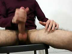 Young twink playing solo
