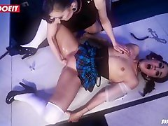 Brunette teen gets to squirt multiple times in hot bdsm