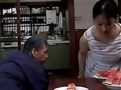 Asian Milf was constantly being sexually harassed by old man, even when her husband was at home - OnMilfCam.com