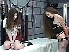 Rough scenes of home bondage with naked playgirl with shaved pussy