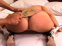 Hardcore squirt ava rose spanking and strapping for messy slut