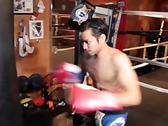Muscle Guy Boxing Training