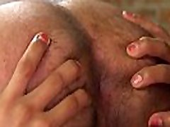 Male slave as maid gets shemales dick
