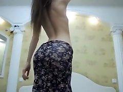 Pale Teen Webcam Striptease Part 02