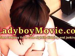 Teen Ladyboy Yo Toys and Strokes