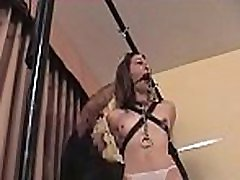 Petite girl becomes bounded serf in sexy bondage scene