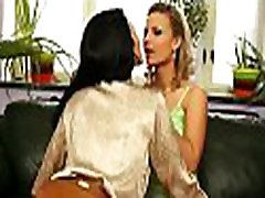 Breathtaking lesbian babe in sexy underware gets muff licked