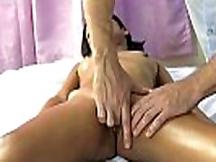 Big face sit hairy Thai girl pussy massage