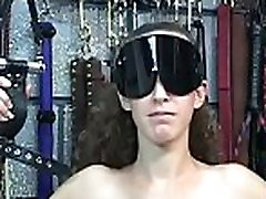 Extreme bondage video with cutie obeying the obscene play