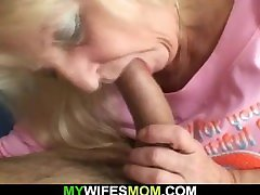 Son in law fucks blonde aunty and young guys granny