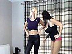 Bra & Panties match Strip Wrestling- With loser gets Diaper :: Hannah Thompson vs Danielle