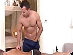 Gay boy is delighting masseur&039s thick male rod