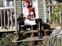 Mature Redhead Red Plays With Her Twat