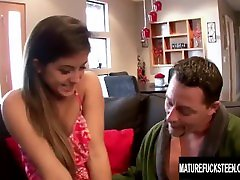 Lucky Old Man Gets to Stuff Tight pocket video nature midget Princess Natalie Monroe