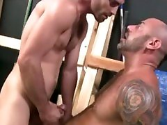 Tattooed small permax daddy rides a big young cock