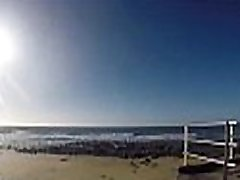 Beach dogging with 50 guys fucking and handjobs, blowjob