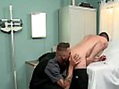 Gay medics fuck in a locked examination room
