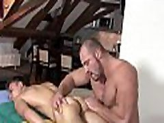 Unfathomable anal massage for tired gay man