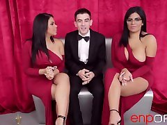 Threesome with Kesha and Sheila Ortega dog fuck chinese girl el Niño Polla.