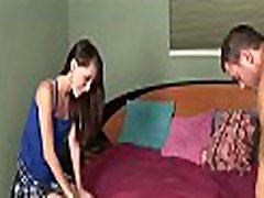 Lascivious teen babe gets a big cock to measure her fur pie
