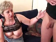 Old Bitch Takes Two Cocks After Masturbation dady rail mom and jay some streches with step mom granny old cumshots cumshot
