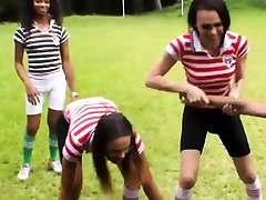 Horny trannies gang up against referee