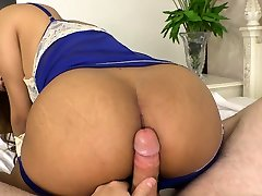 Young Asian ladyboy handjob and bareback anal riding