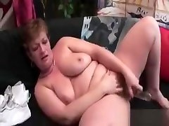 Lonely Blonde boobs praasing Masturbating With Dildo At Home