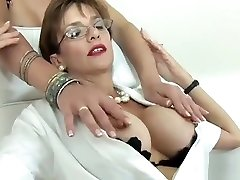Unfaithful British hot sex metch Lady Sonia Flashes Her Big Tits