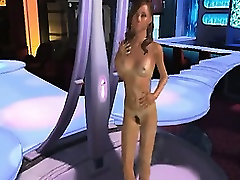 Threesome in 3D animation
