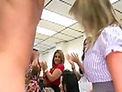 Lusty party ladies swarm and blow a public umshot facial dicked stripper